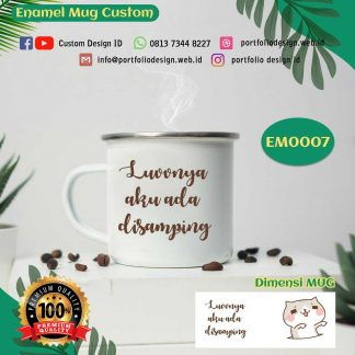 Cangkir mug food grade tema couple love kucing putih EM0007