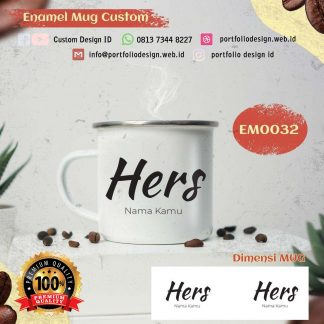 Couple his dan hers request custom desain Mug enamel EM0032