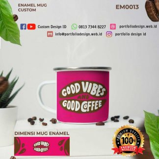 Good vibes and good coffee mug pecinta kopi EM0013
