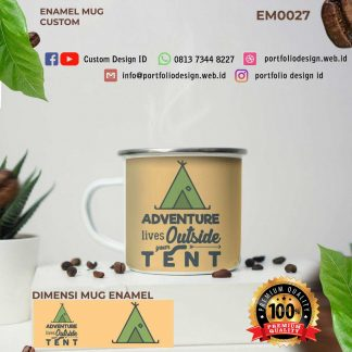 Jiwa petualangan desain adventure lives outside your tent EM0027
