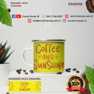 Kopi dan sinar matahari coffee and sunshine desain mug EM0018