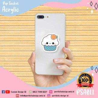 Pop socket karater cute es krim lemon PSA011