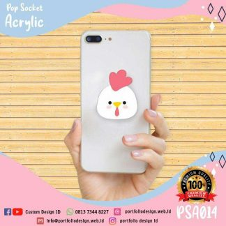 Popsocket gambar kartun ayam chicken cartoon PSA014