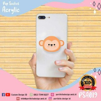 Popsocket hp gambar kartun monyet monkey cartoon PSA019