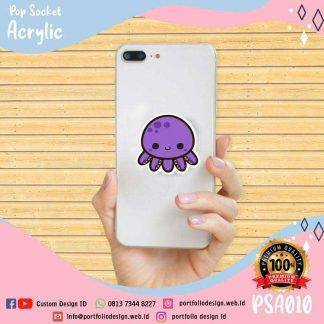 Stand holder hp karakter kartun cumi cumi lucu squid cute cartoon PSA010