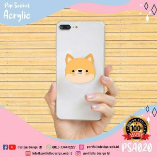 Stand holder hp popsocket akrilik karakter rubah kartun cartoon fox PSA020