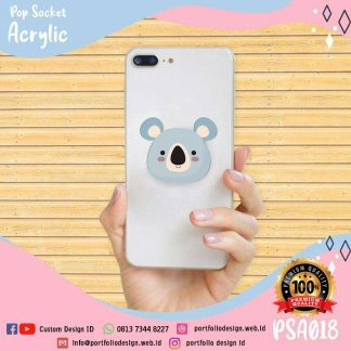 Stand holder hp popsocket akrilik koala kartun cartoon koala PSA018