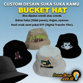 Bucket Hat Custom Desain Portfolio Design WEB ID
